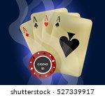 Poker Casino. Vector...