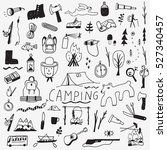 camping   doodles collection | Shutterstock .eps vector #527340457