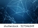 abstract polygonal space blue... | Shutterstock . vector #527346349