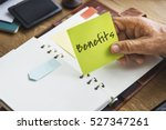 benefits income compensation... | Shutterstock . vector #527347261