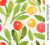 seamless watercolor floral... | Shutterstock . vector #527353705