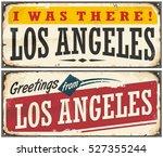 los angeles retro travel sign... | Shutterstock .eps vector #527355244