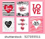 happy valentines day. set of... | Shutterstock .eps vector #527355511
