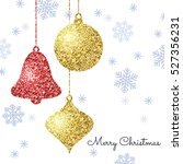 merry christmas background with ... | Shutterstock .eps vector #527356231