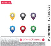 set of six round  colorful map... | Shutterstock .eps vector #527357119