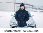 handsome young man in winter... | Shutterstock . vector #527363605