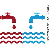 opened blue and red water... | Shutterstock .eps vector #527369089