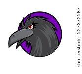 crow head on purple background   Shutterstock .eps vector #527372587