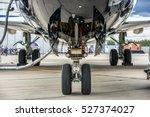 front landing gear of big... | Shutterstock . vector #527374027