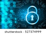safety concept  closed padlock... | Shutterstock .eps vector #527374999