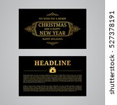 christmas greeting card design. ... | Shutterstock .eps vector #527378191