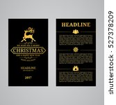 christmas greeting card design. ... | Shutterstock .eps vector #527378209