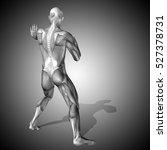 concept strong human or man 3d... | Shutterstock . vector #527378731
