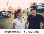 siblings having a great time at ... | Shutterstock . vector #527379289