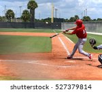 baseball player in full stride... | Shutterstock . vector #527379814
