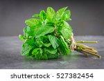 a bunch of mint  spearmint ... | Shutterstock . vector #527382454