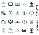 set of 20 universal editable... | Shutterstock .eps vector #527383741