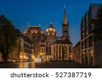 aachen cathedral at night ... | Shutterstock . vector #527387719