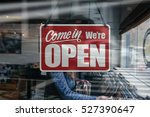 a business sign that says 'come ... | Shutterstock . vector #527390647