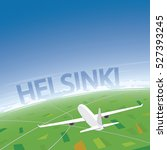 helsinki flight destination | Shutterstock .eps vector #527393245