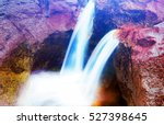 Colorful Stone Waterfall With...