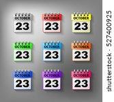 calendar icon vector set of...