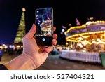 Taking Photo Of Christmas Fair...