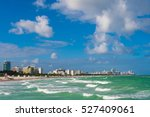 the view on south beach in... | Shutterstock . vector #527409061