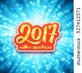 happy new year 2017 gold... | Shutterstock .eps vector #527412571