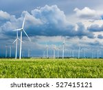 wind turbines and corn fields... | Shutterstock . vector #527415121