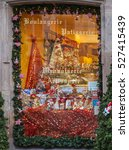 Small photo of COLMAR,FRANCE- DEC 06: A window of a traditional Alsatian bakery is festive decorated during the winter holidays season in Colmar, France on December 6,2013.