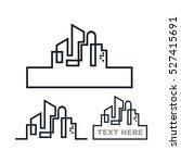 building cityscape line art...   Shutterstock .eps vector #527415691
