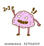 smart clever glad  brain trying ... | Shutterstock . vector #527416519