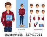 man character design no 2 | Shutterstock .eps vector #527417011