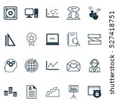 set of 20 universal editable... | Shutterstock .eps vector #527418751