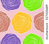 hand drawn background with... | Shutterstock .eps vector #527420689