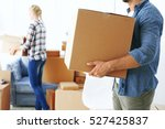 house moving concept. man... | Shutterstock . vector #527425837