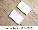 business card on wood   Shutterstock . vector #527433025