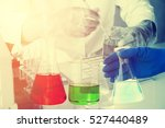 scientist with equipment and... | Shutterstock . vector #527440489
