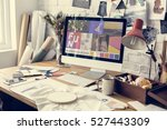 creative design dress fashion... | Shutterstock . vector #527443309