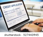 credit application form... | Shutterstock . vector #527443945