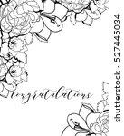vintage delicate invitation... | Shutterstock . vector #527445034