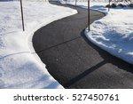 winding sidewalk after snow... | Shutterstock . vector #527450761
