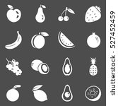 vector set of fruit icons.... | Shutterstock .eps vector #527452459