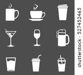 vector set of drinks icons. tea ... | Shutterstock .eps vector #527452465