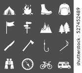 vector set of hiking and... | Shutterstock .eps vector #527452489