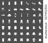 vector set of 49 clothes icons. ... | Shutterstock .eps vector #527452501