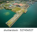 Aerial View Of Shipbuilding...