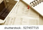 Small photo of Saving Account Book and Statement from Bank for Business Finance Loan