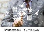 stem business cloud upload... | Shutterstock . vector #527467639